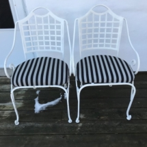 Wrought iron patio chairs (set of 5)