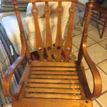 Unique vintage maple chair