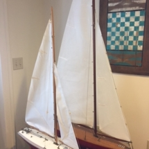 Vintage model sailboats