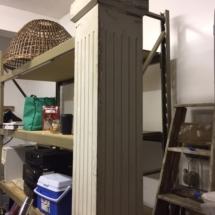 Antique 7 1/2 ft wood pillar