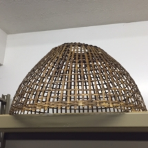 Large, vintage woven lampshade/basket