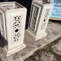 Vintage ornate metal columns