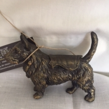 Vintage bronze dog - advertising Chicago Wrigley Bldg