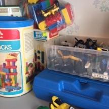 Legos, Duplos and blocks