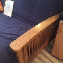 Oak futon frame and futon