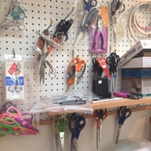 So many scissors and cutting tools