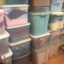 Tubs and tubs of fabric