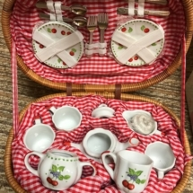 Cute cherry tea set