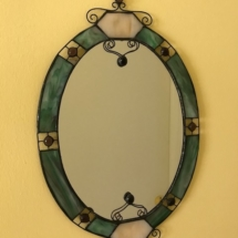 Cool handcrafted, stained glass mirror