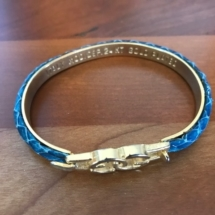 Vintage Gucci 24 K plate bangle