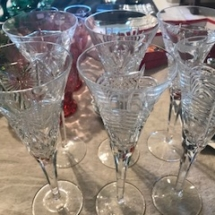 "Waterford ""Spirit of America"" champagne glasses"