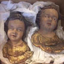 Antique plaster cherubs