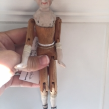 Vintage Shackman wood and bisque Pinocchio