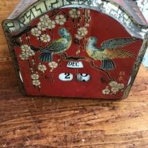 Antique tin perpetual calendar