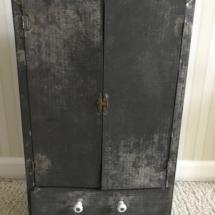 Antique tin cabinet