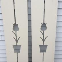 Wood tulip shutters