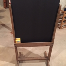 Child's chalkboard easel