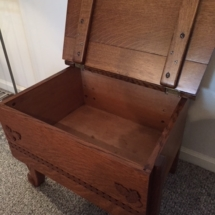 Unique small antique oak chest/table