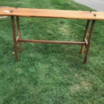 Blacksmith crafted rat tail screw table
