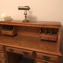 Beautiful oak rolltop desk