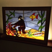 Beautiful back lit stained glass art