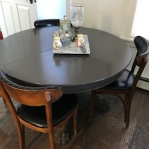 Painted antique table with leaves to seat 10