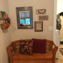 Entryway bench with storage in seat