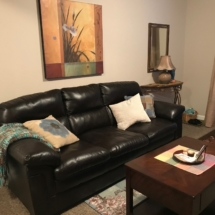 Bonded leather sofa - in excellent condition