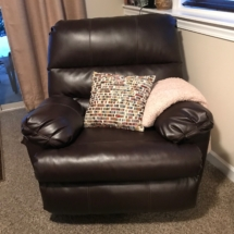 Leather swivel rocker