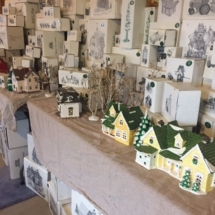 HUGE collection of Dept 56 Christmas village buildings and accessories