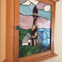 Stained glass spice cabinet
