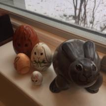 Sweet bunny nesting dolls