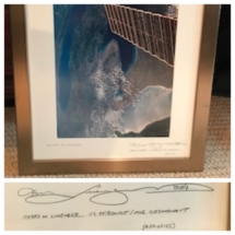 Astronaut, Jerry Linenger signed photo - Michigan from space