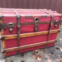$100 Antique Red Trunk