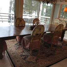 Stunning, 11ft antique oak dining table. Seats 14 with leaves in!