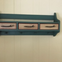 Eddie Bauer Home rustic painted shelf