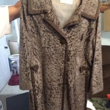 Vintage custom made Persian lamb fur coat. Super cool!