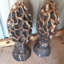 Cement garden mushrooms