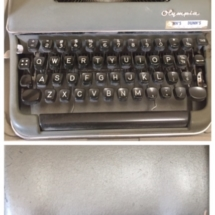 Vintage 1960's Olympia manual typewriter with case