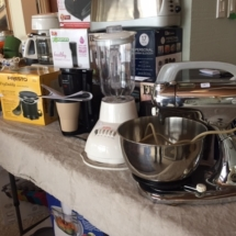 Tons of small appliances - many still in boxes