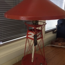 Vintage nautical buoy table lamp