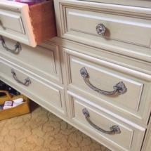 Nice, vintage bedroom set includes 2 twin bed frames, large dresser and side dresser