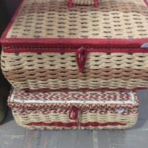 Vintage sewing baskets