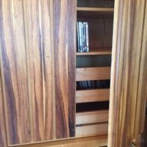 Armoire/storage cabinet with unique wood grain doors