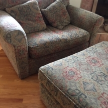 Chair and a half with oversized ottoman