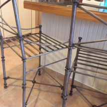 Wrought iron counter chairs