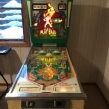 Working vintage pinball machine