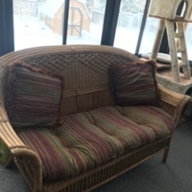 Many wicker and rattan pieces