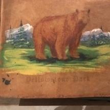 Antique Yellowstone souvenir/photo book