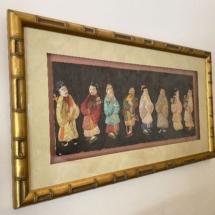 Silk Chinese men framed